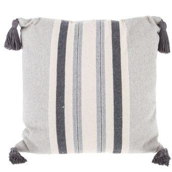Striped Pillow With Tassels Stripe Pillow Pillows Decor
