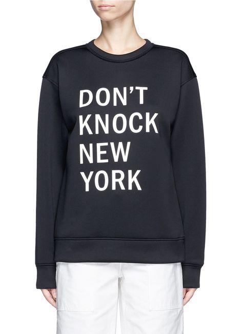 DKNY 'Don'T Knock New York' Print Scuba Jersey Sweatshirt. #dkny #cloth #sweatshirt