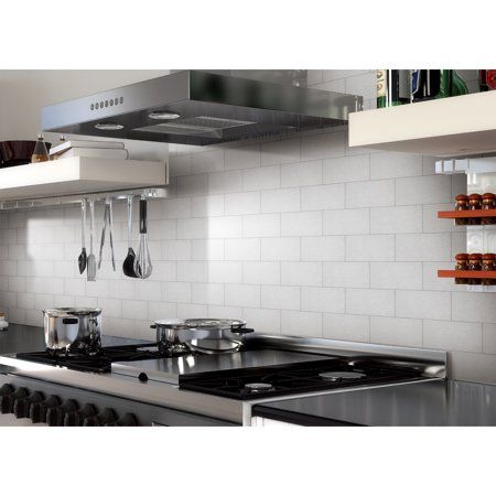 Art3d 32 Pieces Peel Stick Metal Backsplash Kitchen Decorative