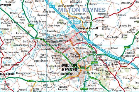A map of Milton Keynes Hospital who we have a clinical partnership
