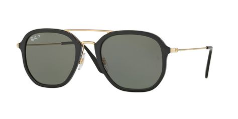 5529a0855c Ray-Ban RB3561 57 GENERAL 57 Green   Gold Sunglasses