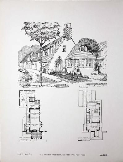 Portfolio Of Fifty New Small Homes Designed By R C Hunter Building Plans House Vintage House Plans Small House Design