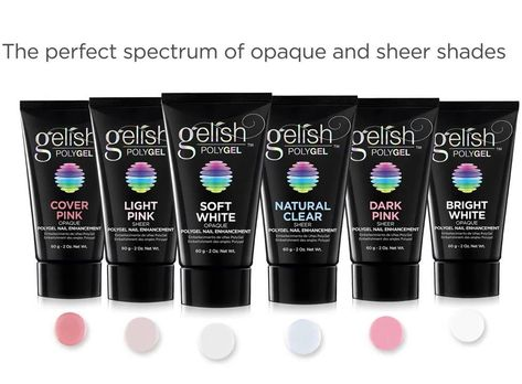 Gelish Polygel Nail Enhancement 2oz 60g Clear White Pink Nib Authentic Choose Ebay Polygel Nails Nail Enhancement Gelish Polygel