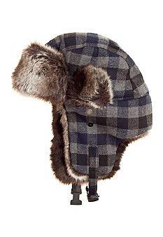 Totes Isotoner Faux Fur Plaid Trapper #belk #mensfashion