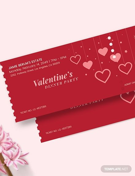 Valentines Party Event Ticket Template Ad Ad Party Valentines Event Template Ticket In 2020 Valentines Party Event Ticket Template Ticket Template