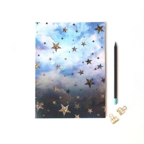 Nikki Strange A4 Luxury Cloudy Stars Notebook 12 Liked On