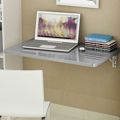 Wall-mounted Drop-leaf Table Folding Floating Laptop Desk Workstation Space Save
