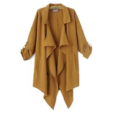 To find out about the Khaki Lapel Long Sleeve Asymmetrical Chiffon Outerwear at SHEIN, part of our latest Outerwear ready to shop online today!