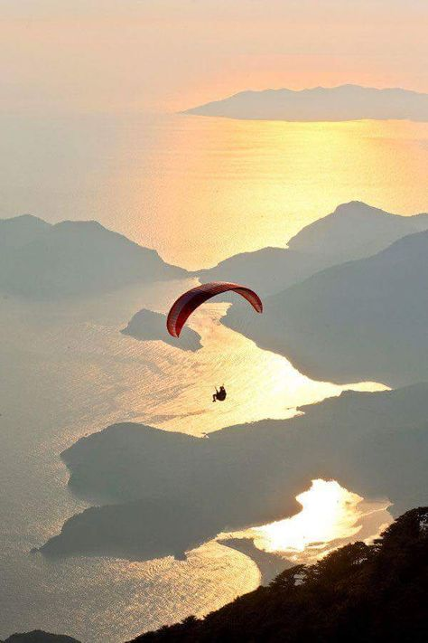 Paragliding from Babadag mountain, Fethiye by Orhan Okutan, LG JJ Adventure Awaits, Adventure Travel, The Places Youll Go, Places To Visit, Beautiful World, Beautiful Places, Hang Gliding, Visualisation, Paragliding