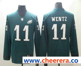 Carson Wentz Philadelphia Eagles Therma Long Sleeve Jersey