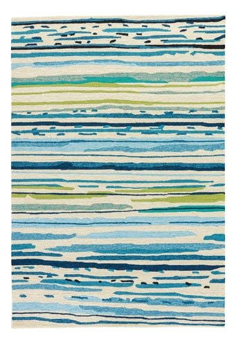 Bright Blue And Lime Seaside Sketch