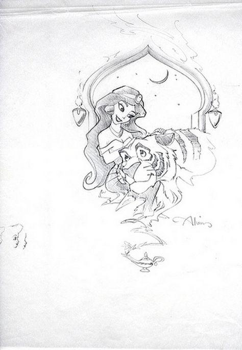 anythingaladdin: Jasmine and Rajah by John Alvin