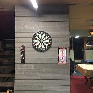 Dart Board Set 3pc Kit Target Play Game Room Bar Man Cave Wall Hanging Dual Side