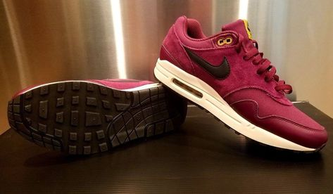 Nike Air Max 1 Premium SIZE 9 875844 601 PRM Bordeaux