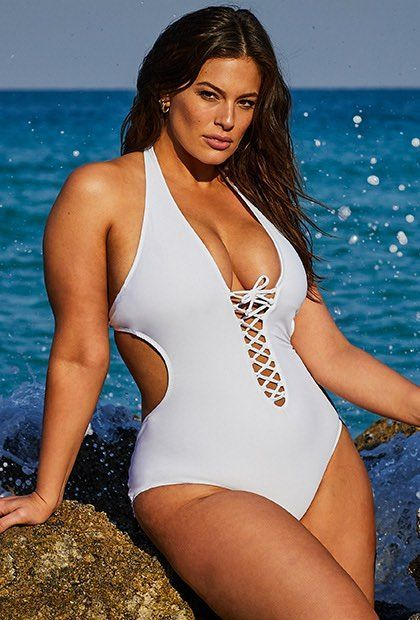 Swimsuits for All Womens Plus Size Ashley Graham Hotshot One Piece Swimsuit 16 Black