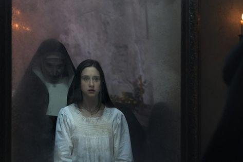 The Nun Releases New Photos Featurette And Haunting Vr Experience The Conjuring Horror Movies Scary Movies