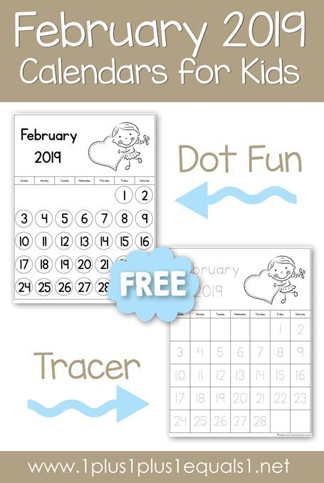 February 2019 Calendar For Preschool February 2019 Calendars for Kids | Home Preschool | Kids calendar
