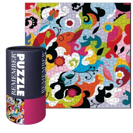 This jigsaw puzzle forms a floral print! Designed in Germany. Designed in: Germany Product: Puzzle Inclues: 500 pieces DIM: x