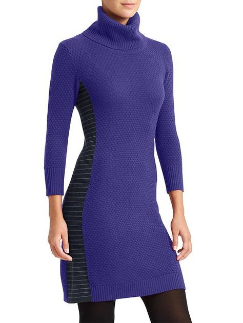 efc1ab96fe Spotlight Sweater Dress - We love a wool turtleneck sweater dress,  especially when it has honeycomb stitching for a rustic feel and rib-knit  sides for great ...