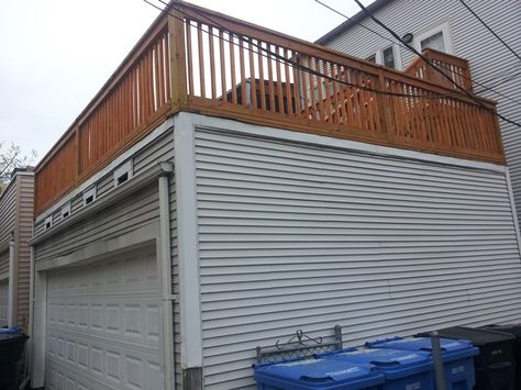 Flat Roof Garage 2 Story Garage Pinterest Flat roof, Decking - fabricant de garage prefabrique