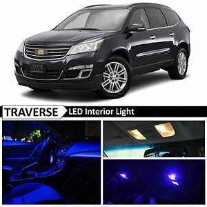 Image Is Loading 18x Blue Interior Led Lights Package Kit For In 2020 Chevrolet Traverse Interior Interior Led Lights Interior Lighting