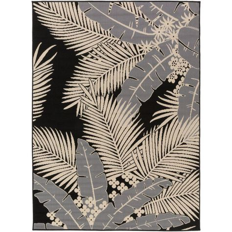 Burrageara Gray 3 ft. 11 in. x 5 ft. 3 in. Indoor/Outdoor Area Rug