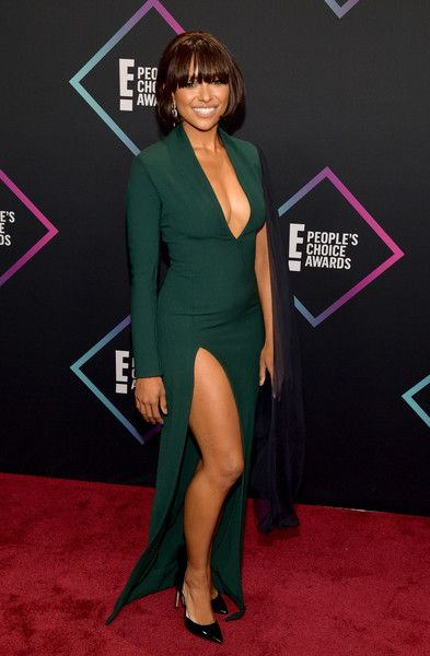 Kat Graham attends the People's Choice Awards 2018.
