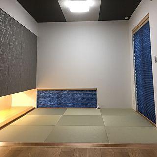部屋全体 ネイビー好き 吊り押入れ 和室4 5畳のインテリア実例 2016 12 23 15 25 54 Roomclip ルームクリップ 和室 インテリア 和室 モダン