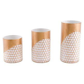 Mercury Row Moritz 3 Piece Stainless Steel Tabletop Votive Holder Set In 2021 Candle Holders Candle Holder Set Mirror Candle Holders