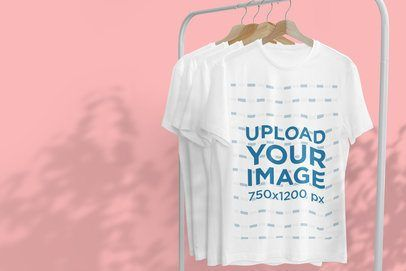 Download Mockup Of A Hanging T Shirt Featuring Tree Shadows In The Background 3724 El1 In 2021 Clothing Mockup Mockup Design Shirts