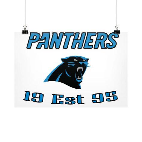 Panthers Horizontal Wall Poster