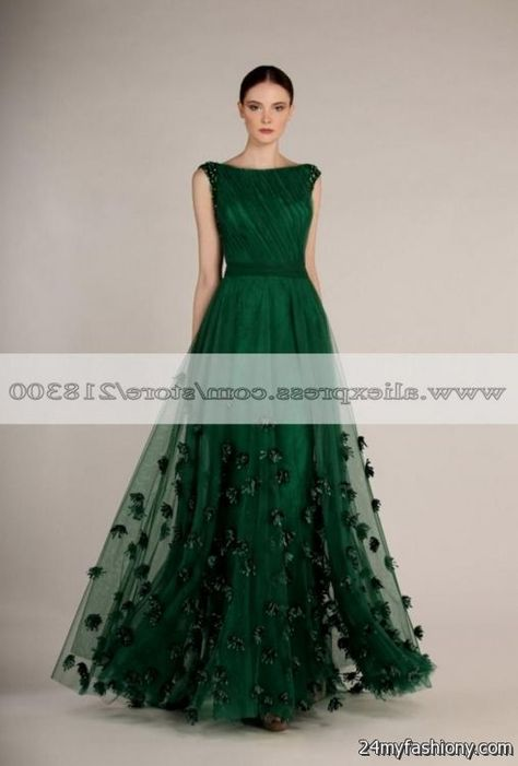 forest green prom dress looks | Prom