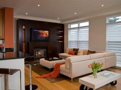 parete attrezzata con camino tv soggiorno stile moderno   INTERIOR ...