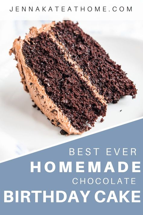 Best Ever Homemade Chocolate Cake Recipe Delicious Desserts Food Recipes Homemade Chocolate