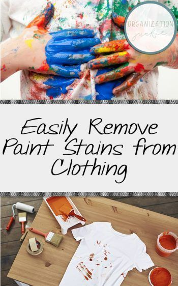 Easily Remove Paint Stains From Clothing Laundry Hacks Laundry