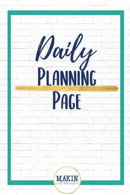 A FREE Daily Planning Page for your online business! Click here to opt in!!   -Brought to you by Makin' It Social