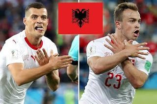 247 Update Shaqiri Xhaka Facing Fifa Action Over Celebrati Albanian Culture Kosovo Flag Fifa