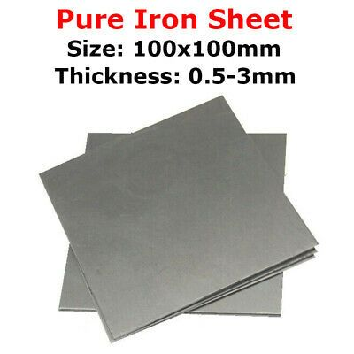 Ad Ebay 0 5mm 0 8mm 1 1 2 1 5 2 3mm Thick 99 995 Pure Iron Sheet Panel Plate 100 100mm Iron Sheet Sheet Pure Products