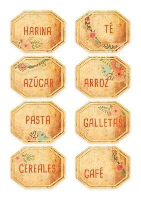 Etiquetas Vintage Para Imprimir Gratis In 2020 Spice Jar Labels Labels Printables Free Shabby Chic Printables