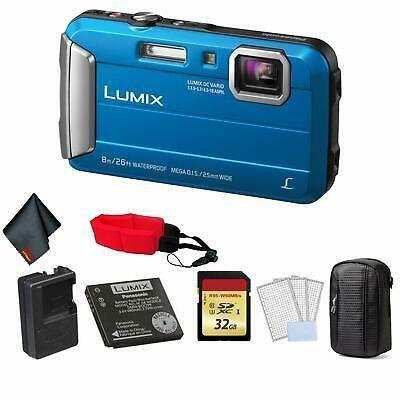 Panasonic Lumix Dmc Ts30 Waterproof Digital Camera Blue Waterproof Digital Camera Digital Camera Camera Blue