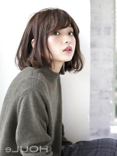 Korean Short Hairstyles Photo Gallery Of Cute Korean Short Hairstyles Viewing 14 Of 15 With 375 Korean Short Hair Bangs Korean Short Hair Hairstyles With Bangs