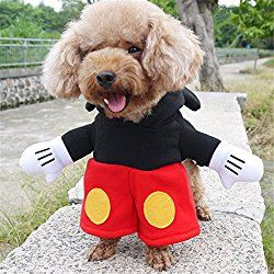 Mickey Mouse Minnie Mouse Disney Dog Costumes Hoodies Small