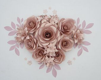 Above Crib Giant Paper Flowers 3d Wall Art Of Large Paper Etsy In 2020 Flower Wall Backdrop Paper Flowers Giant Paper Flowers