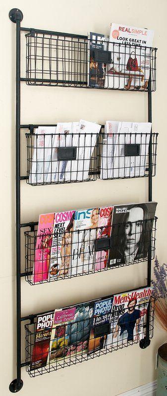 Julianne Wall Organizer With Wall Baskets Wall Bookshelves Kids Baskets On Wall Metal Wall Basket