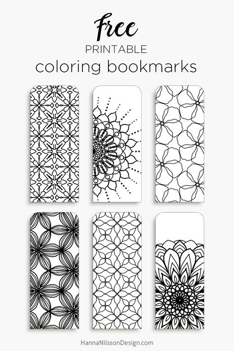 Color your own bookmarks - FREE printable bookmarks for ...