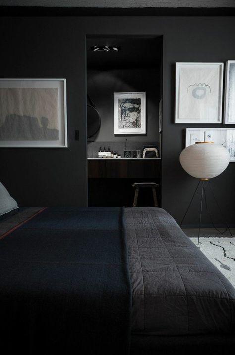 Jolie Chambre A Coucher Avec Grand Lit De Couleur Gris