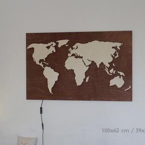 Wood World Map Wall Art Flat Earth Led World Map As Wall Etsy Map Wall Art World Map Wall Art Wood World Map