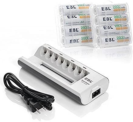 Amazon Com Ebl 2800mah Ni Mh Aa Rechargeable Batteries 8 Pack And 808 Rechargeable Aa Aaa Ba Best Battery Charger Aaa Battery Charger Rechargeable Batteries