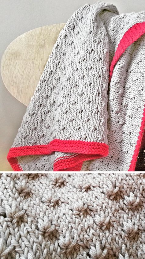 Free Knitting Pattern For 8 Row Repeat Knot Stitch Baby Blanket 8