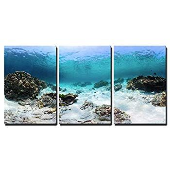 Amazon Com Wall Art Moon Sea Ocean Landscape Picture Canvas Wall Canvas Wall Art Wall Canvas Wall Art Prints